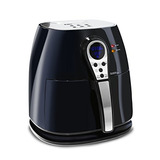 Elite Platinum Eaf-05 3.2qt Aire Digital Fryer, Negro