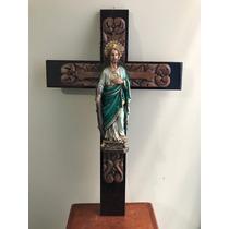 Imagen De Resina San Judas Tadeo En Cruz 65 Cm Envio Gratis