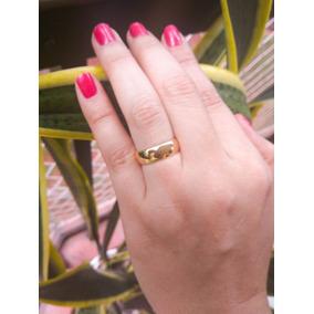 Aliança Unidade Noivado Casamento Banhado A Ouro 18k