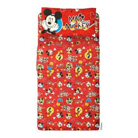 Sabana Mickey Mouse 1 1/2 Plaza Set 3 Piezas Disney Orig