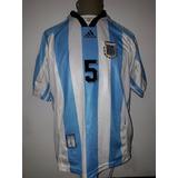 Camiseta Argentina adidas 1998 Xl 5 Matias Almeyda Impecable