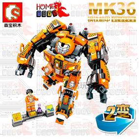 Robo Homem De Ferro Iron Man Mk36 - 507pçs - Compat. Lego