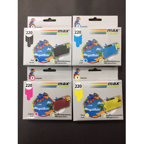 Cartuchos Epson Xp220, Compatibles, Pack De 4 Colores