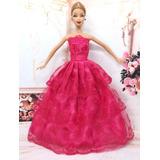 Vestido Para Boneca Barbie Susi Crianças Renda Frete Grátis