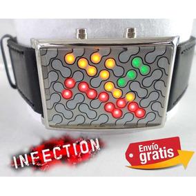 Reloj Led Binario Infection Moda Lujo Fiesta Evento Calidad