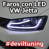 Faros Led Vw Jetta A6 Mk6 @ Msi / Hid Xenon Gli Sport Oem 17