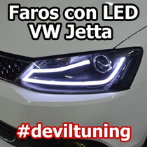 Faros Led Vw Jetta A6 Mk6 @ Msi Hid Xenon Gli Sport Tuning