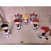 Corinthians Cute Kit Decoração De Festa 6 Display Mdf