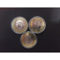 3 Monedas (belisario, Hidalgo, Zacatecas) C/caps No Subasta