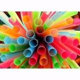 200 Pitillos Plásticos Vasos Frappe