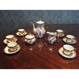 Juego De Te Completo En Porcelana Para 6 Personas Antiguo