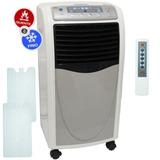 Climatizador De Ar Portátil Quente Frio Umidificador 6,8 L
