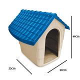 Casa Cama Perro Plast Pet Modelo New House No.1 Azul