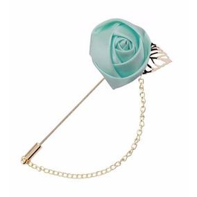 Fistol Flor Con Cadena Pin Para Camisa Varios Colores 337