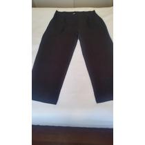 Calça Pantalona, Plus Size Em Malha Preta
