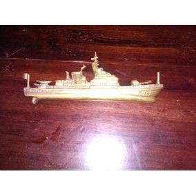 Barco Fragata De Bronce