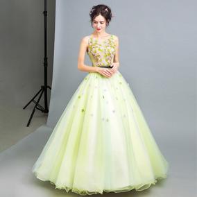 Vestido De Debutante Verde - 34 36 38 40 42 44 46 - Va00412