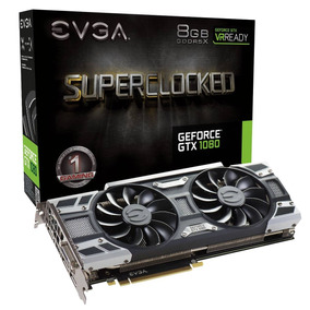 Placa De Video Pci-e 8gb Gtx-1080 256 Bit Ddr5x Evga Sc Oc