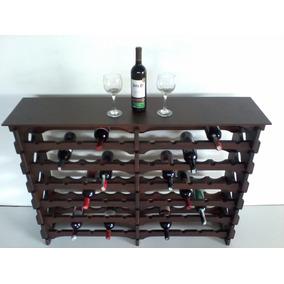 Adega Madeira Vinho 70 Garrafas Tipo Mesinha C10