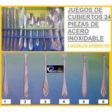 Juego De Cubiertos 24 Piezas Acero Inoxidable Modelos Nuevos