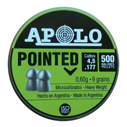 Balines Apolo Pointed Cónicos 4.5 Mm X500 Peso 0,60 Grs 9 G