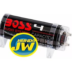 Capacitor Boss 4 Faradios Potencia Max, 5000w En Blister.
