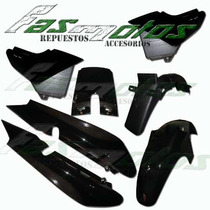 Kit Plasticos Yamaha Ybr 125 Negro Super Completo Fas Motos