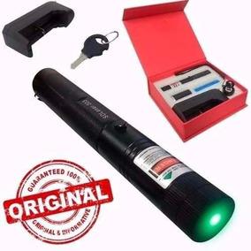 Caneta Laser Pointer Verde 98.000mw Com Chave Acende Fósforo