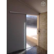 Porta Blindex 2,10 X 0,60 De Correr Vitron 8mm Incolor