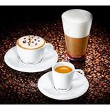 4 Xicaras Espresso 4 Capuccino 2 Copo Para Receita Nespresso