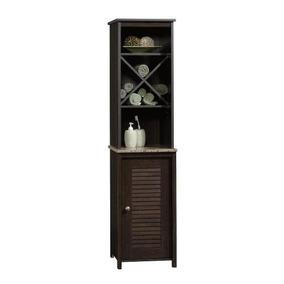 Gabinete Para Baño Con Entrepaños Y Puerta Chocolate Sauder
