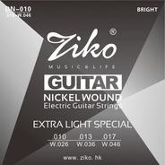Cuerdas Guitarra Electrica 010 Nickel 010-046 Cuerda Ziko