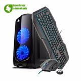 Combo Caja Atx Crystal G5 Más Teclado Y Mouse Trust Gaming