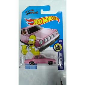 Hot Wheels Carrinho The Simpsons Rosa Hw Screen Time Mattel