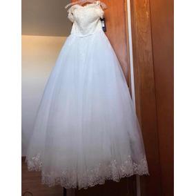 Vestido De Novia Nuevo Talla 8 Corte Princesa