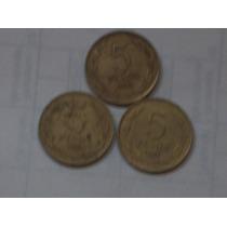 Lote Monedas Antiguas 5 Pesos Chilenos..