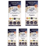 Pack 5 Chocolate 70% Orgánico Vegano Cacao Soul Barra 100g