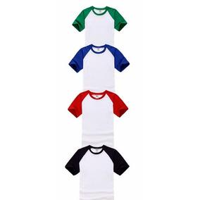 Camiseta Ragla P/ Sublimação Colorida 100%poliéster Atacado