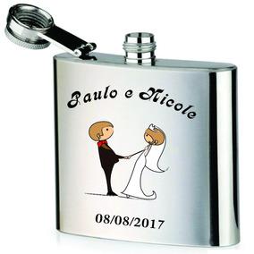 Presente Para Padrinhos E Madrinhas. Kit Com 10 Cantil Inox