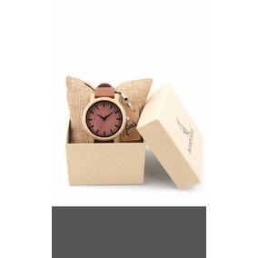 Reloj De Bamboo Unisex 100% Original