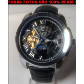 Relógio Unissex,de Pulseira De Couro,automático,frete Grátis