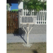 Lixeira De Calçada Em Pvc P/ Casas,condomínios E Comércios.