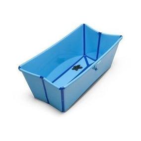Banheira Dobrável Para Bebê Flexi Bath Azul Stokke