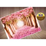 Floresta Rosa Encantada Papel De Arroz A4 Para Bolo