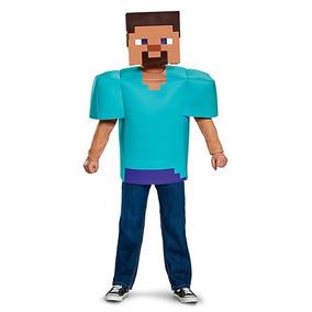Minecraft Steve Disfraz Niño Halloween Talla 4/6 Nuevo