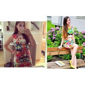 c06007d49a Vestido Americanino Floreado Invierno Mujer Cortos - Vestidos de ...
