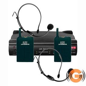 Microfone Headset Sem Fio Duplo Leson Auricular G Musical