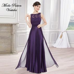 Vestido Plisado Talle Grande Madrina Importado Moda Pasion
