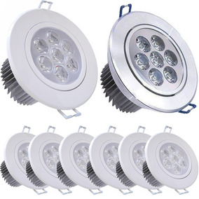 Kit 10 Spot Dicroica Led 7w Cob Direcionável Super Branca