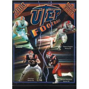 Revista De Futbol Americano Colegial 2003 Texas-el Paso